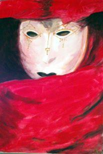 Mysteriös, Menschen, Rot, Maske