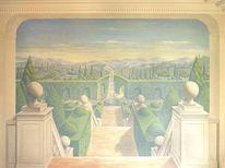 Wandmalerei, Illusionsmalerei, Auftragsmalerei, Acrylmalerei