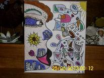 Abstrakt, Figural, Malerei, Traum