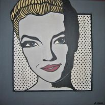 Acrylmalerei, Malerei, Portrait, Pop art