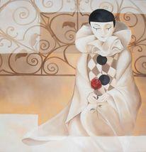 Ölmalerei, Ruhe, Karneval, Harlekin
