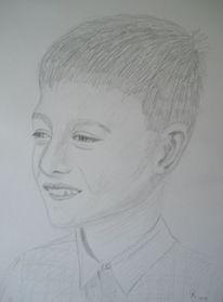 Kind, Bleistiftzeichnung, Zeichnung, Zeichnungen