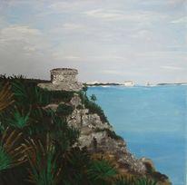 Landschaft, Malerei, Mexiko, Acrylmalerei