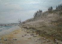Acrylmalerei, Welle, Küste, Strand