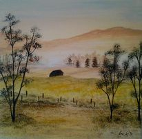 Tau, Acrylmalerei, Wiese, Erholung