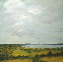 Natur, Acrylmalerei, Gewitter, Wasser