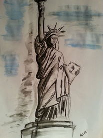 Liberty, New york, Statue, Zeichnungen