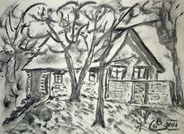 Kohlezeichnung, Zeichnung, Wischen, Zeichnungen