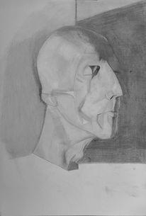 Schädel, Gegenständlich, Knochen, Zeichnung