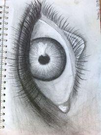 Bleistiftzeichnung, Augen, Zeichnung, Zeichnungen