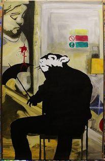 Banksy hommage ii, Malerei, Hommage