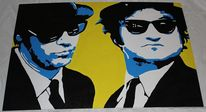 Pop art, Blues brothers, Malerei, Pop