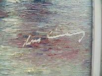 Impressionismus, Ölmalerei, Signatur, Pinnwand
