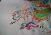 Farben, Tiger, Bunt, Malerei