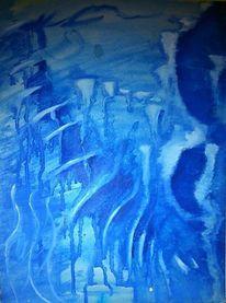 Höhle, Blau, Malerei