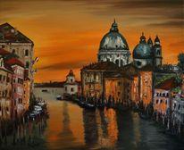 Gemälde, Architektur, Landschaft, Venedig