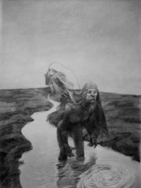 Fische, Surreal, Fantasie, Zeichnung