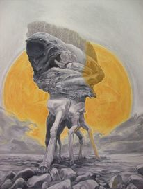 Monster, Surreal, Landschaft, Menschen