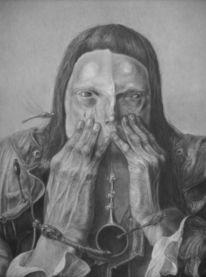 Hände, Zeichnung, Menschen, Frontal