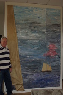 Fenster, Ölmalerei, Blick, 6 keilrahmenzunem mtv