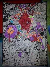 Surreal, Weiß, Rot, Herz