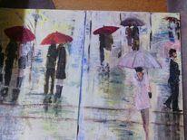 Regen, Malerei, Menschen