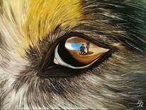 Malerei, Ölmalerei, Portrait, Augen