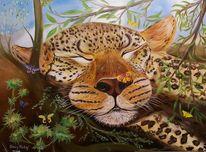 Katze, Portrait, Wild, Ruhe