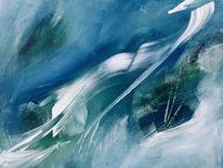 Abstrakt, Eis, Meer, Malerei