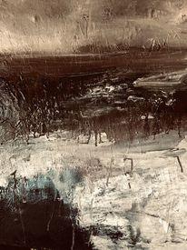 Landschaft, Abstrakt, Fantasie, Mischtechnik
