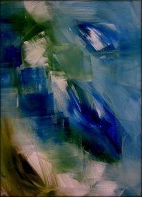 Blau, Grün, Weiß, Glashaus