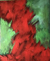 Rot, Treffen, Grün, Malerei