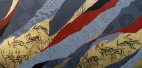 Abstrakt, Grafik, Tusche, Malerei