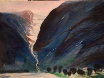 Aquarellmalerei, Aquarell, Gletscher,