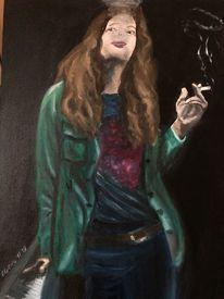 Menschen, Portrait, Mann, Ölmalerei
