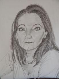 Graphit und bleistift, Zeichnungen, Selbstportrait,