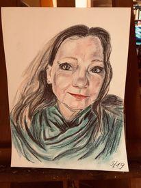 Portrait, Zeichnung, Frau, Zeichnungen