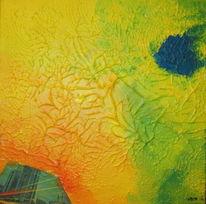 Acrylmalerei, Stadt, Malerei, Strukturpaste