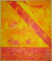 Strukturpaste, Abstrakt, Flügel, Acrylmalerei