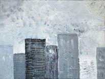 Grige, Acrylmalerei, Malerei, Strukturpaste