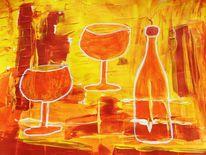 Abstrakt, Malerei, Traum, 0range