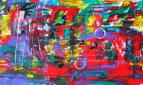 Bunt, Farben, Leben, Malerei
