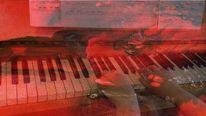 Musik, Fotomontage, Leben, Träumerin