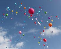 Reise, Himmel, Luftballons, Bunt