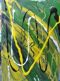 Linie, Grün, Belebend, Malerei