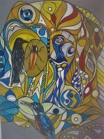 Vogel, Fantasie, Abstrakt, Leuchten