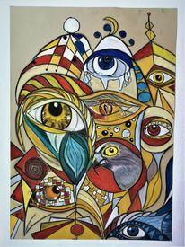 Abstrakt, Augen, Fantasie, Bunt
