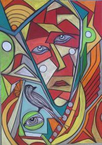 Bunt, Kopf, Abstrakt, Augen