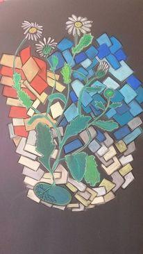 Blumen, Bunt, Abstrakt, Malerei