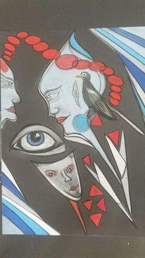 Gesicht, Kopf, Abstrakt, Fantasie